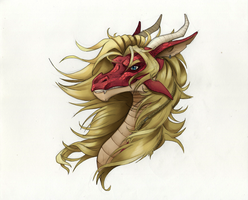 Farin the dragon Bust by VelvettBlue