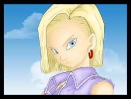 Soft Cell Shading: Android 18 by HTivey