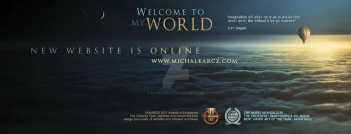 Michal Karcz PARALLEL WORLDS new website on line by Karezoid