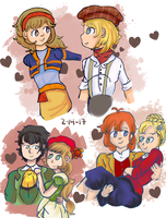 Harvest Moon Valentine Clusters by magedusted
