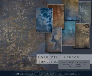 Colourful Grunge Textures by kuschelirmel-stock
