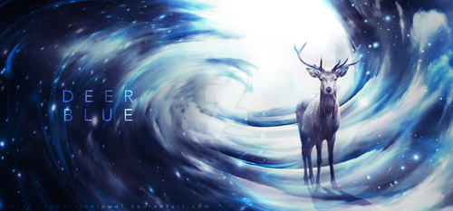 Deer Blue by AmetrineJewel