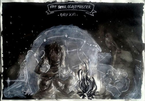 Day 16 : Fat-Star Witch -Beastmaster/Veterinary by MisSarena