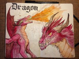 Mythical Journal Entry 1: Dragon by Autumn-Khajiit
