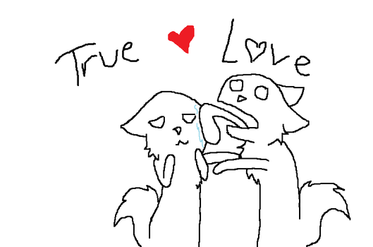 True Love Lineart by Breethewolfgirl