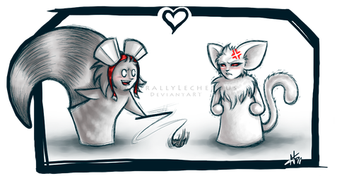 Commission - Racc and Kitteh by NaturallyLecherous