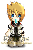 Roxas Chibi -colored- by TwillightRhapsody