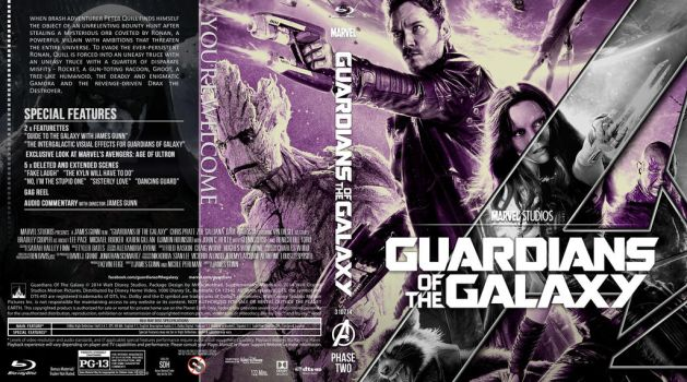 GUARDIANS OF THE GALAXY BLU-RAY by MrPacinoHead
