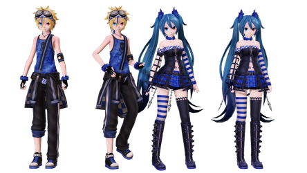 [MMD+DL]Rockin Stone and Lightning Stone by 01mikuxlen02
