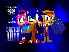 Doctor Wii the 10th Doctor played by Sonic by TimeLordParadox