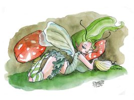 Sleepy Faerie by FrancescaDaSacco