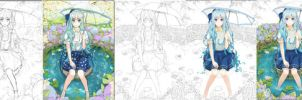 Rainy Day ~Progress Shots~ by Annabel-m