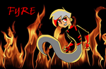 Fyre with Background by PoisonIVy10