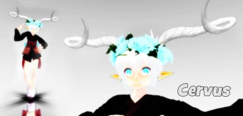 Cervus MMD model (DOWNLOAD) by Pangashka