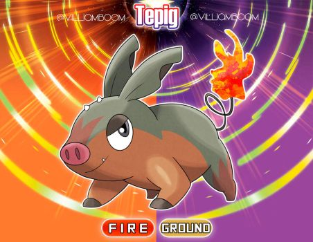 Tepig in Alola!!! by villi-c