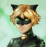Chat Noir by StaticColour