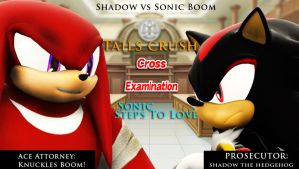 Shadow Vs Knuckles Boom Cover Art by shadow759
