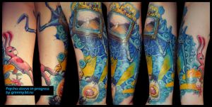 Psycho sleeve by grimmy3d