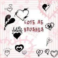 Love Me Brushes by Red--Roses