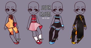 Casual Clothing Adopts -CLOSE- by Miss-Trinity