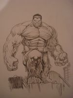 hulk commission  (dale keown hulk ) by ARTIEFISHEL79