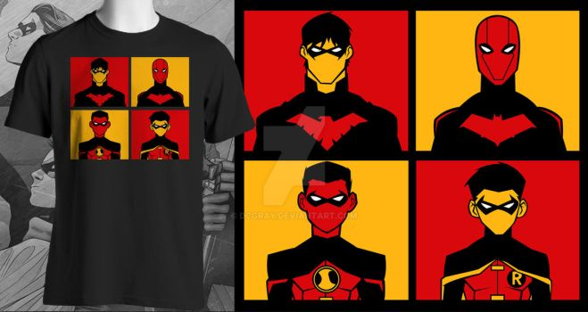 ''A Bat Full of Robins'' Shirt Design by DCGray