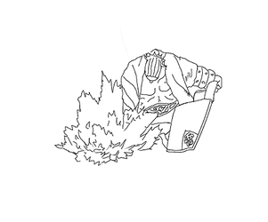 Naruto: Raikage Lineart by Wollack