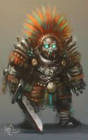 Aztec Guardian by Traaw