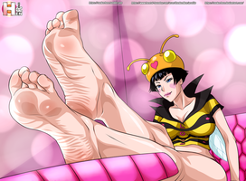Warden love's feet (toriko) by RankerHen