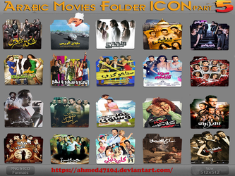 Arabic Movies Folder Icon Part 5 by ahmed47104