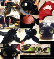 Giant Toothless Plush (Compilation) by DemonDragonSaer