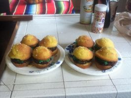 I made Cheeseburger Cupcakes! by Toongirl18