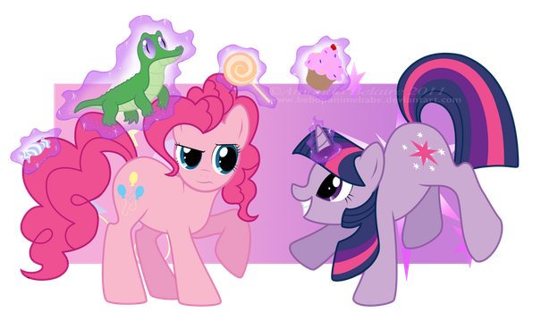 Pinkie Pie and Twilight Sparkle Reversed by ImmortalTanuki