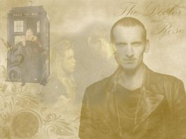 Ninth Doctor+Rose by spiritofthebeast