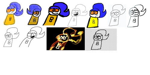 Boopie drawn in different Paints by Waltman13