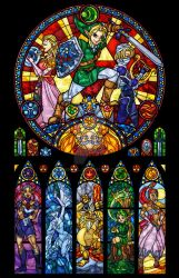 Ocarina of Time: The Seven Sages Stained Glass by nenuiel