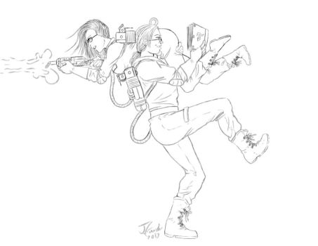 Ghost buster love (commission) by Destinyfall
