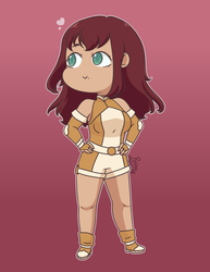 BNHA OC: Sayuki's Dream Hero Costume by Reina-MintChip