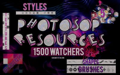 +PHOTOSHOP RESOURCES   1.500 WATCHERS by ISatQuietly