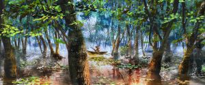 A boat in the swamp by amatoy
