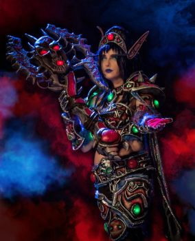 Blood Elf Death Knight Cosplay - World of Warcraft by YozhikandNamie