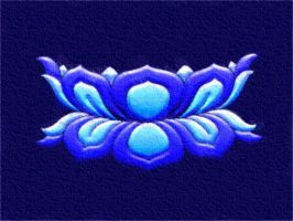 Blue Thangka Lotus by Upholstered-Dave
