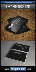 Free Developer Business Card Template PSD by MGraphicDesign
