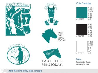 Take The Reins Today Logos by dschuler-creative