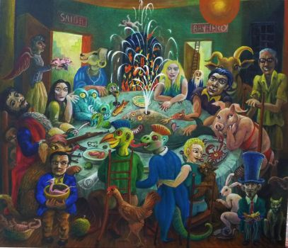 the dinner party by rodulfo