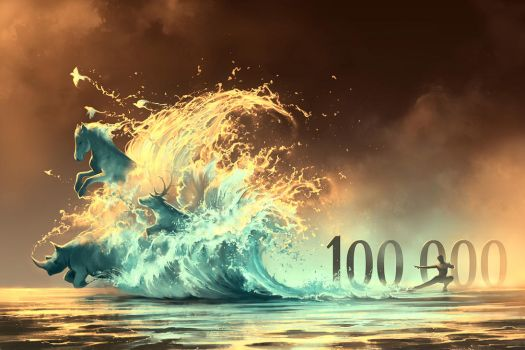 Preview of Mana TIde 100 000 followers by AquaSixio