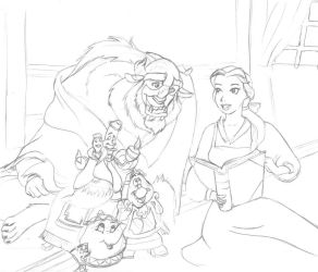 Beauty and the Beast by LadyCyco