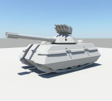 3D tank by aztigart