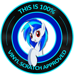 Vinyl Scratch 100% approved by FireryDawn