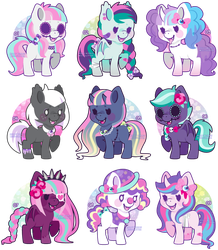 Creepy Cute Pony Adoptables by Miss-Glitter